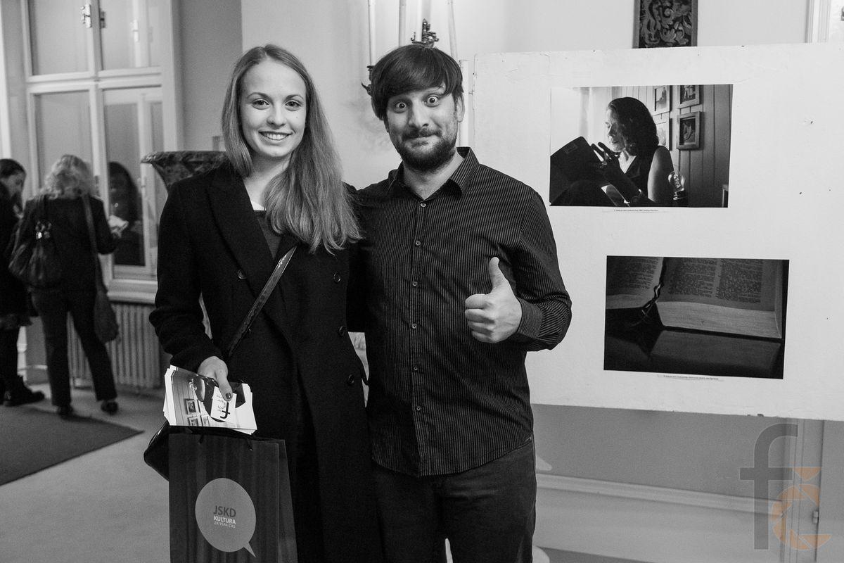 Matic s Petro Bevcl, zmagovalko letosnje #fotopoezije